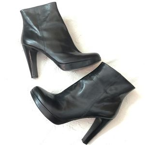 Marc Fisher Sandie Platform Boot Black Leather 8.5